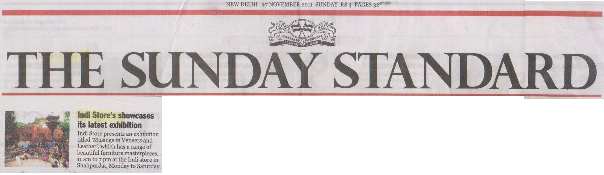 The Sunday Standard '11