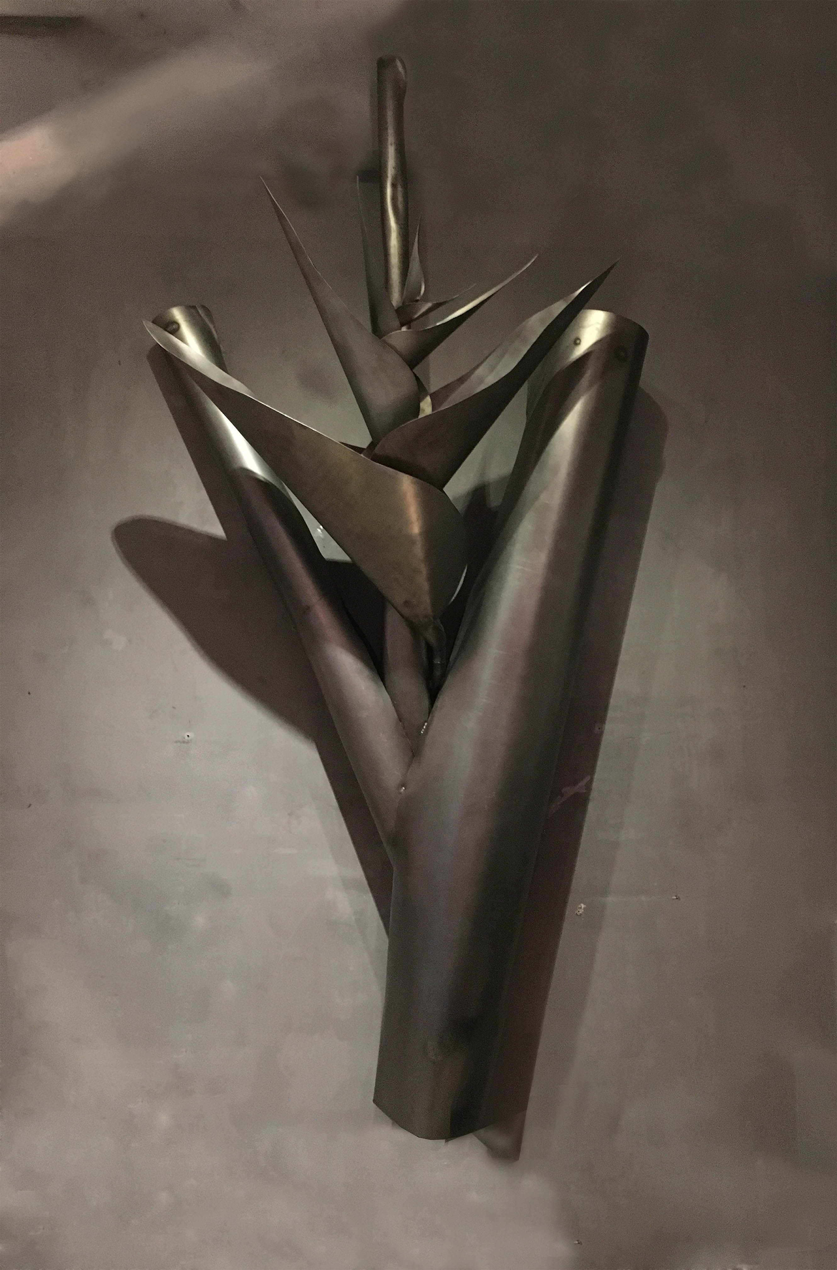 Heliconia in Black Steel